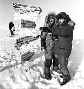 Владимир Медведев и Федор Конюхов на Северном полюсе